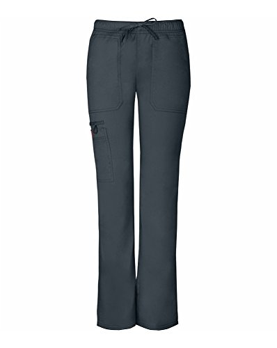 Gen Flex by Dickies Women's Low Rise Straight Leg Scrub Pant Small Light Pewter