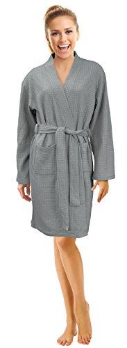 Napa Women's Waffle Spa Robe Lightweight Kimono Bathrobe Soft Hotel (Waffle Weave Spa Robe)