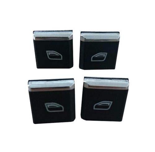 (SKAD 4x Window Switch Button Cap Cover Replacement for Porsche Panamera (2010-2016) Porsche Cayenne (2011-2015) Porsche Macan (2015-2016))