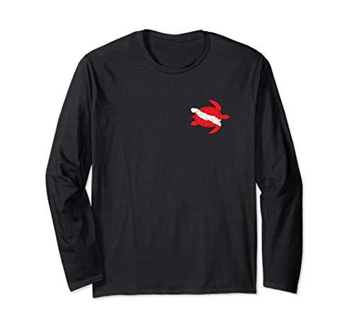(Sea Turtle Shirt Dive Flag Scuba Diving Lovers Diver Shirt)
