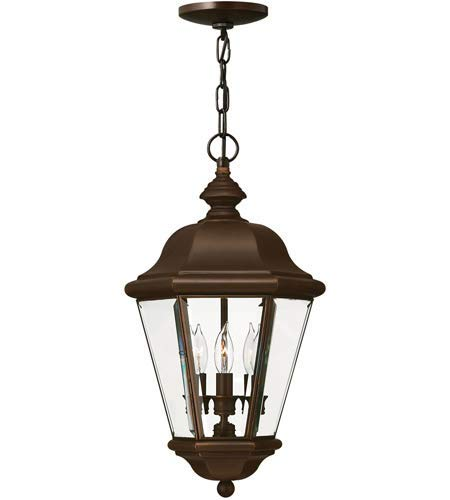 Outdoor Pendant 3 Light Fixtures with Copper Bronze Finish Solid Brass Material Candelabra 11