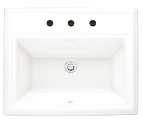 American Standard 0700.008.020 Town Square Countertop Sink with 8-Inch Faucet Spacing, -