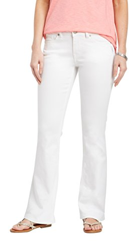 Silver Jeans Co. Women's Suki White Boot Cut Jean 33W White by Silver Jeans Co.