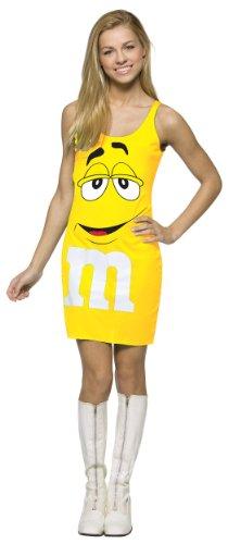 Food Characters Halloween Costumes (Rasta Imposta M&M's Tank Dress, Yellow, Teen 13-16)