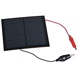 31Ag1grjBrL. SS300  - Jameco Valuepro G/S SOLAR PANEL with Alligator Clips, 6V, 150 mA, 0.9W