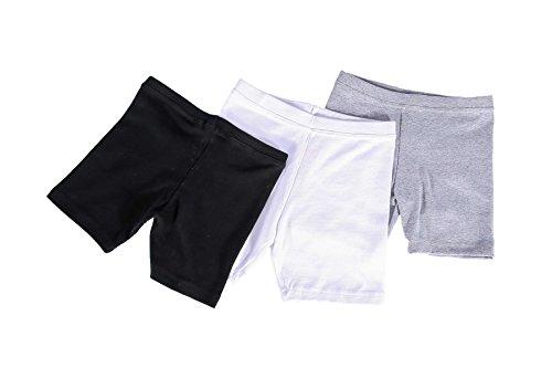 chopper club Girls Cotton Stretch Soft Ribbed Bike Shorts for School Uniform/Sports/Dresses/Skirts 12-13years US Size XL by chopper club (Image #3)