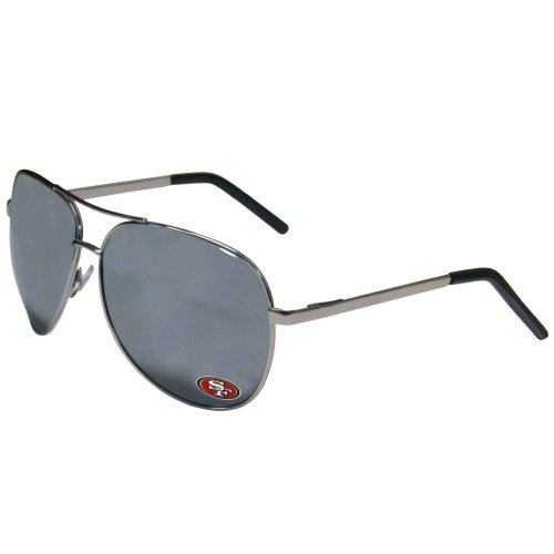 NFL San Francisco 49ers Aviator Sunglasses (Glass 49ers Francisco Sports San)