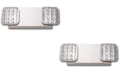 LED Two Head Emergency Light with Battery Back-up White - 2 Pack