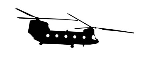 Chinook Copter Helicopter - Decal Sticker, Die cut vinyl decal for windows, cars, trucks, tool boxes, laptops, MacBook - virtually any hard, smooth surface ()