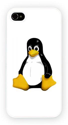 Linux Tux Pinguin Cowboy, iPhone 4 4S, Etui de téléphone mobile - encre brillant impression