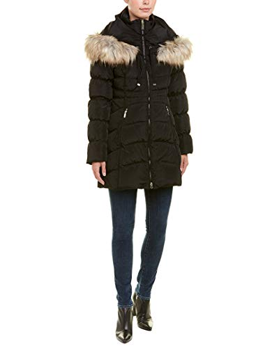 Laundry by Shelli Segal Womens Quilted Down Coat, M, Black