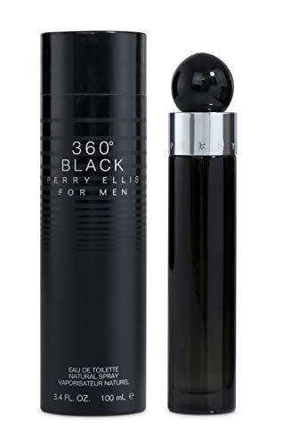 Perry Ellis 360 Black for Men, 3.4 fl oz EDT