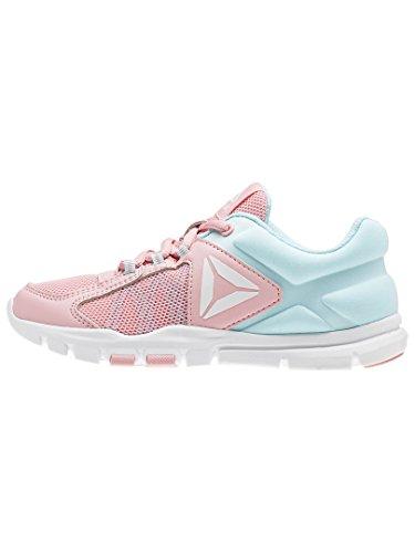 Reebok Yourflex Train 9.0–Sneaker, Mädchen, Pink–�?Squad Pink/Blue Lagoon/White)