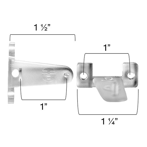 - 6 Pack of Hold Brackets for 2 Inch Window Blinds - Clear