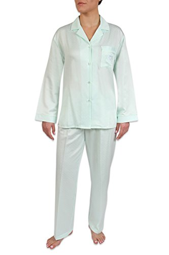 Heavenly Bodies Satin Pajamas, Classic Notch Collar PJ Set With Brushed Back Satin. Warmth Without The Weight (Texere Silk Robe)