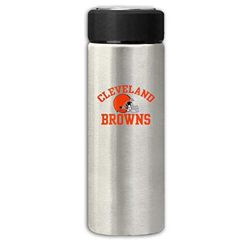 (Sorcerer Gray Travel Thermos Cup 12 OZ Cleveland Browns Stainless Steel Water Bottle Leak Proof Cup Cover Slip Scratch Vacuum Insulation Mug Hot/Cold Drink Coffee Bottle 350ml)