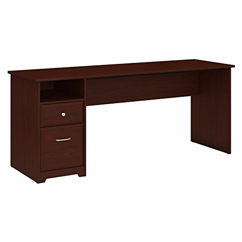 Bush Furniture Cabot 72W Computer Desk with Drawers in Harvest Cherry