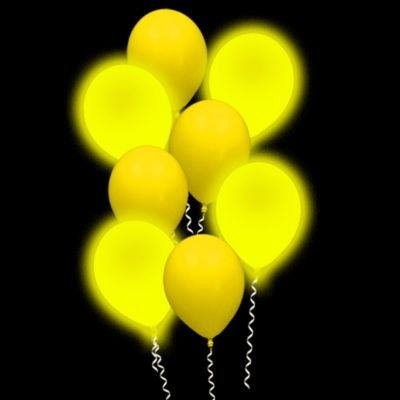 Lumi - Loons Balloon Lights Yellow Balloons White Lights - 10 Pack -