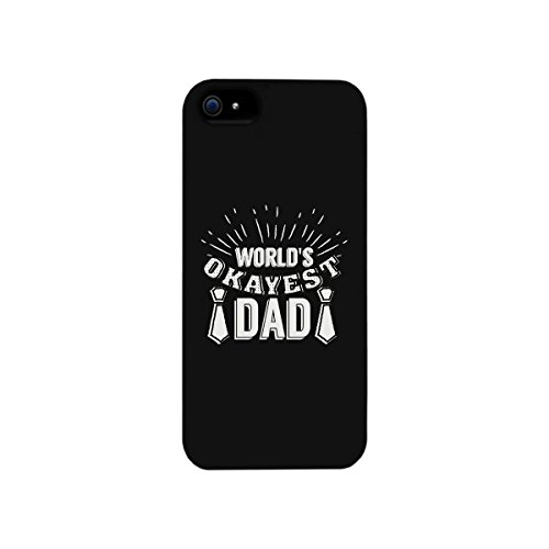 365 Printing World's Okayest Dad Black iPhone 5 Case Funny Holiday Gift For Dad