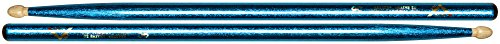 Blue Sparkle Drumsticks - Vater Percussion Color Wrap 5B Drumsticks, Blue Sparkle, Wood Tip