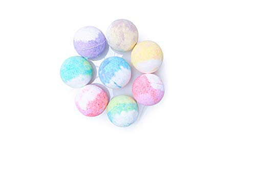 French Bath Bombs for Women with Loofah Mitt and 6-100% all Natural - Fresh Fizzy Floral Essential Oils Scents - Rose Lavender Mint Chamomile + Shea Butter + Aloe Best Vegan Spa Day