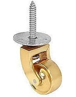Ironmongery World® pesado Latón Diseño Vintage Rueda giratoria Ruedas