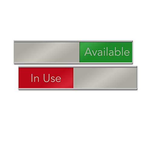 Quality Satin-Aluminum Slider Signs 10