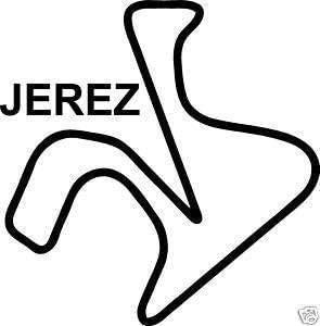 Online Design Jerez Pegatina Carreras Circuito Moto GP España Bicicleta - Negro