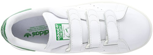 Mens Adidas Stan Smith Baskets Cf, Blanc Chaussures Blanc / Vert