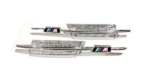 2 x M-Style Fender Crystal /ámbar LED Side Indicators