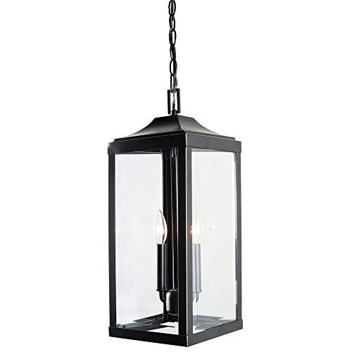 Y-Decor EL180708-LH 2 Outdoor Hanging Lantern in Imperial Black Exterior Lights,