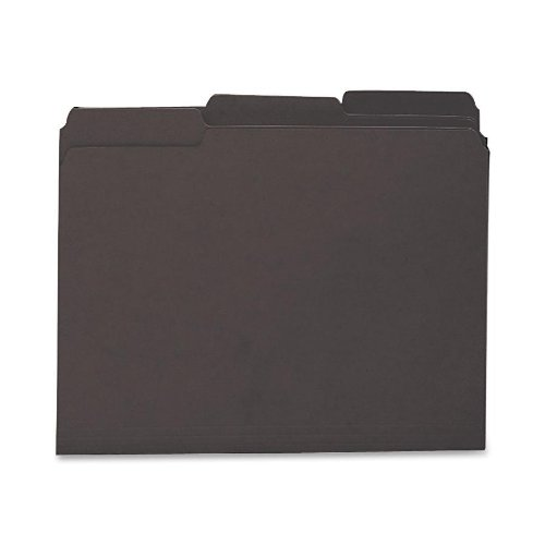 Smead Interior File Folder, 1/3-Cut Tab, Letter Size, Black, 100 per Box (10243)]()