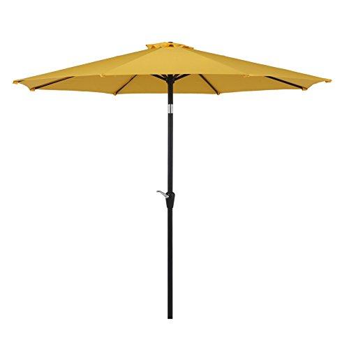 Grand Patio Outdoor Market Umbrella With Push Button Tilt And Crank  Patio Umbrella  10 Ft  Yellow