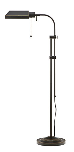 Cal Lighting BO-117FL-DB 100-Watt Adjustable-Height Pharmacy Floor Lamp, Dark Bronze (Bronze Pharmacy Floor Lamp)