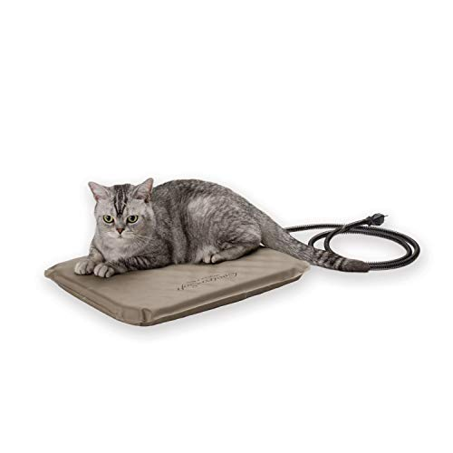K&H Pet Products Lectro-Soft Heated Outdoor Pet Bed, Tan, Small, 20W