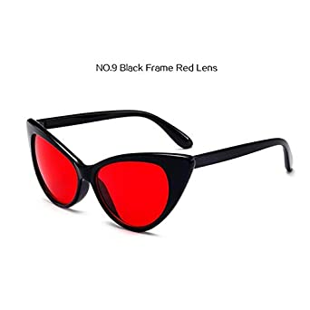 8b97ebce1e Shopystore Black Red Uvlaik Women Cat Eye Sunglasses Clear Frame Glasses  Transparent Vint  Amazon.in  Clothing   Accessories