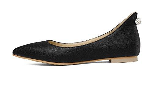 Solid Microfiber Living Up Heel Mini Black Room Lace Aalardom Women qaYUwxXp