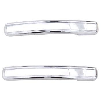 for 02-06 Chevy Avalanche // 99-06 Silverado 1500 // GMC Sierra 1500//01-06 Silverado 2500//3500 // 01-06 GMC Sierra 2500//3500 Handles Only 64-0125 EAG Chrome ABS 2 Door Handle Covers