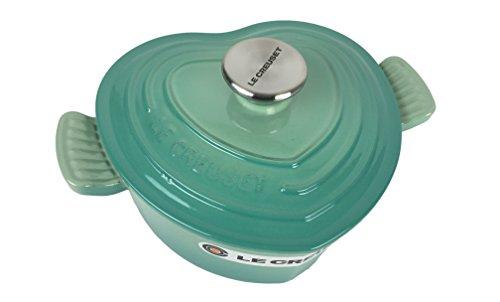 Hearts Dutch (Le Creuset Enameled Cast Iron Heart Oven, 2 1/4 quart (Cool Mint))