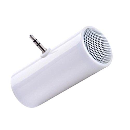 Ladiy 3.5mm ポータブルスピーカー ステレオミニスピーカー 音楽 MP3プレーヤー アンプ ラウドスピーカー 携帯電話&タブレット用 ポータブルラインインスピーカー   B07MKJ8PD1