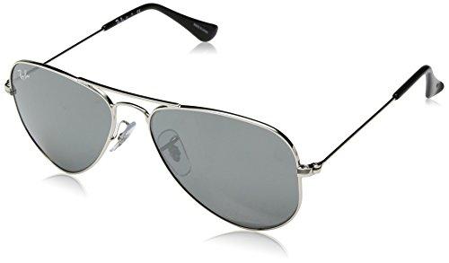 Ray-Ban Kids' 0rj9506s212/6g52junior Non-Polarized Iridium Aviator Sunglasses, Shiny Silver, 52 - 52 Ban Ray Aviator