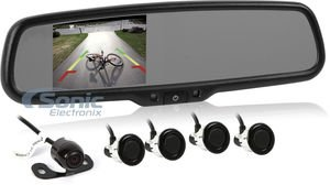 Crimestopper SV-9164 Oem Replacement-Style Mirror Monitor System with 4.3