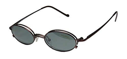 New & Season & Genuine - Brand: Magnetic Eyewear Style/model: 211 Gender: Mens/Womens Prescription Ready Gorgeous Oval Half-rim Spring Hinges Sunglass Lens Clip-Ons Eyeglasses/Eyeglass Frame (47-20-140, Chocolate)