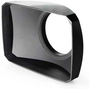 Black Mennon 58mm 16:9 Wide Angle Video Camera Screw Mount Lens Hood with White Balance Cap