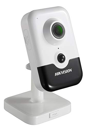 Hikvision 2 Megapixel H.265+ Wi-Fi PIR IR 2.8mm Fixed Lens Cube Network Indoor Camera DS-2CD2423G0-IW(2.8mm), with Built-in Micro SD/SDHC/SDXC Slot & Two Way Audio