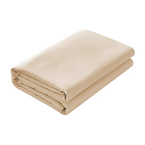 (Basic Choice Flat Sheet, Breathable, Extra Soft Microfiber 2000 Bedding Top Sheet - Wrinkle, Fade, Stain Resistant - Hypoallergenic - (Beige,)