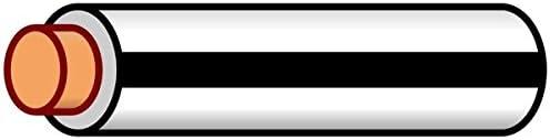 K4 Auto /& Marine Primary Electrical Wire White W//Black Stripe 18 Gauge 20 Feet