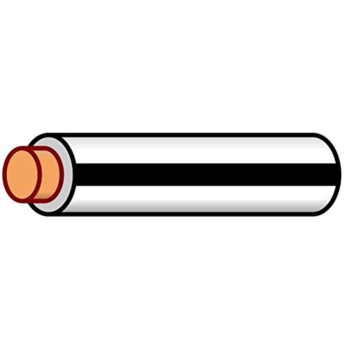 (K4 Auto & Marine Primary Electrical Wire, White W/Black Stripe 18 Gauge 100 Feet)