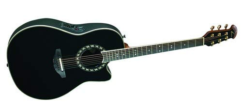 (Ovation AX Series 2077AX-5 Acoustic-Electric Guitar, Black)