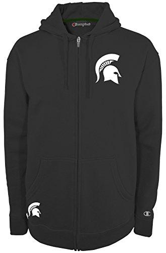 Champion NCAA Michigan State Spartans Men's Fan Favorite 2 Full Zip Hooded Fleece Jacket, Medium, (Ncaa Champions)